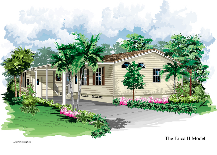 Erica II model home elevation